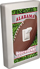 Alabama City - State Football 6 LED Night Light Wall Switch with Touchdown