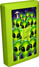 Alien 6 LED Night Light Wall Switch Invasion Group with UFO