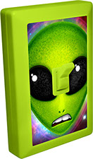 Alien 6 LED Night Light Wall Switch with Fret Expression