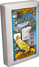 California Souvenir 6 LED Night Light Wall Switch