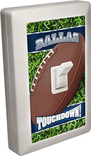 Dallas City - State Football 6 LED Night Light Wall Switch with Touchdown