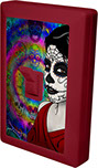 Day of the Dead Female calavera sugar skull 6 LED Night Light Wall Switch