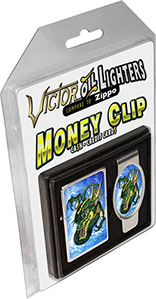 Dragoon Tattoo Gift Box Combo Victor Pocket Oil Lighter and Money Clip