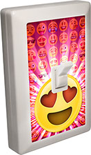 Emoji 6 LED Night Light Wall Switch with Heart Eyes