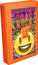 Emoji 6 LED Night Light Wall Switch of Smiley with Open Mouth