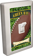 Green Bay City - State Football 6 LED Night Light Wall Switch with Touchdown
