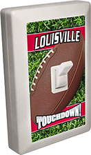 Louisville City - State Football 6 LED Night Light Wall Switch with Touchdown
