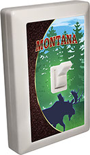 Montana Souvenir 6 LED Night Light Wall Switch