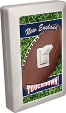 New England City - State Football 6 LED Night Light Wall Switch with Touchdown