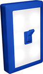 6 LED Night Light Wall Switch - Blue Casing