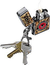 NRA National Rifle Association Camouflage Micro Oil Lighter Keychain with Keys