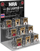 NRA National Rifle Association Micro Oil Lighter Keychain 18 pc Display Camouflage