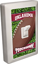 Oklahoma Red City - State Football 6 LED Night Light Wall Switch with Touchdown