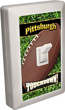 Pittsburgh Bay City - State Football 6 LED Night Light Wall Switch with Touchdown