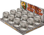 Redneck Mason Jar Shot Glass Display 12 pc
