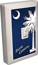 South Carolina Souvenir 6 LED Night Light Wall Switch