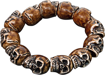 Skull Resin Stretchy Bracelet, Item 62518, UPC 6 40990 62518 2