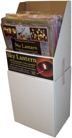 Sky Lanterns available in 36 & 60 pc Counter & Floor Displays, Item 129651