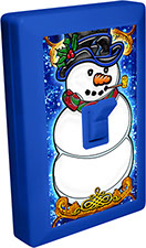 Christmas Snowman 6 LED Night Light Wall Switch Item 110580XMAS