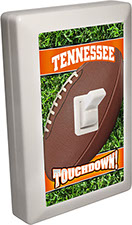 Tennessee Orange City - State Football 6 LED Night Light Wall Switch with Touchdown