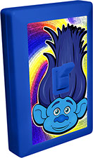 Trolls of Fun 6 LED Night Light Wall Switch Blue Troll