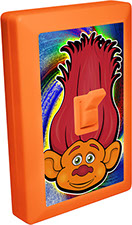 Trolls of Fun 6 LED Night Light Wall Switch Orange Troll with Red Hair