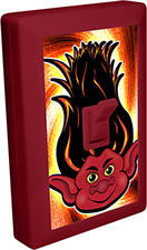 Trolls of Fun 6 LED Night Light Wall Switch Red Troll with Flaming Hair